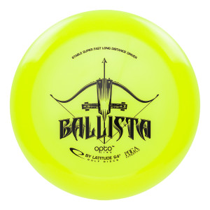 ballista opto yellow latitude 64 disc golf distance driver