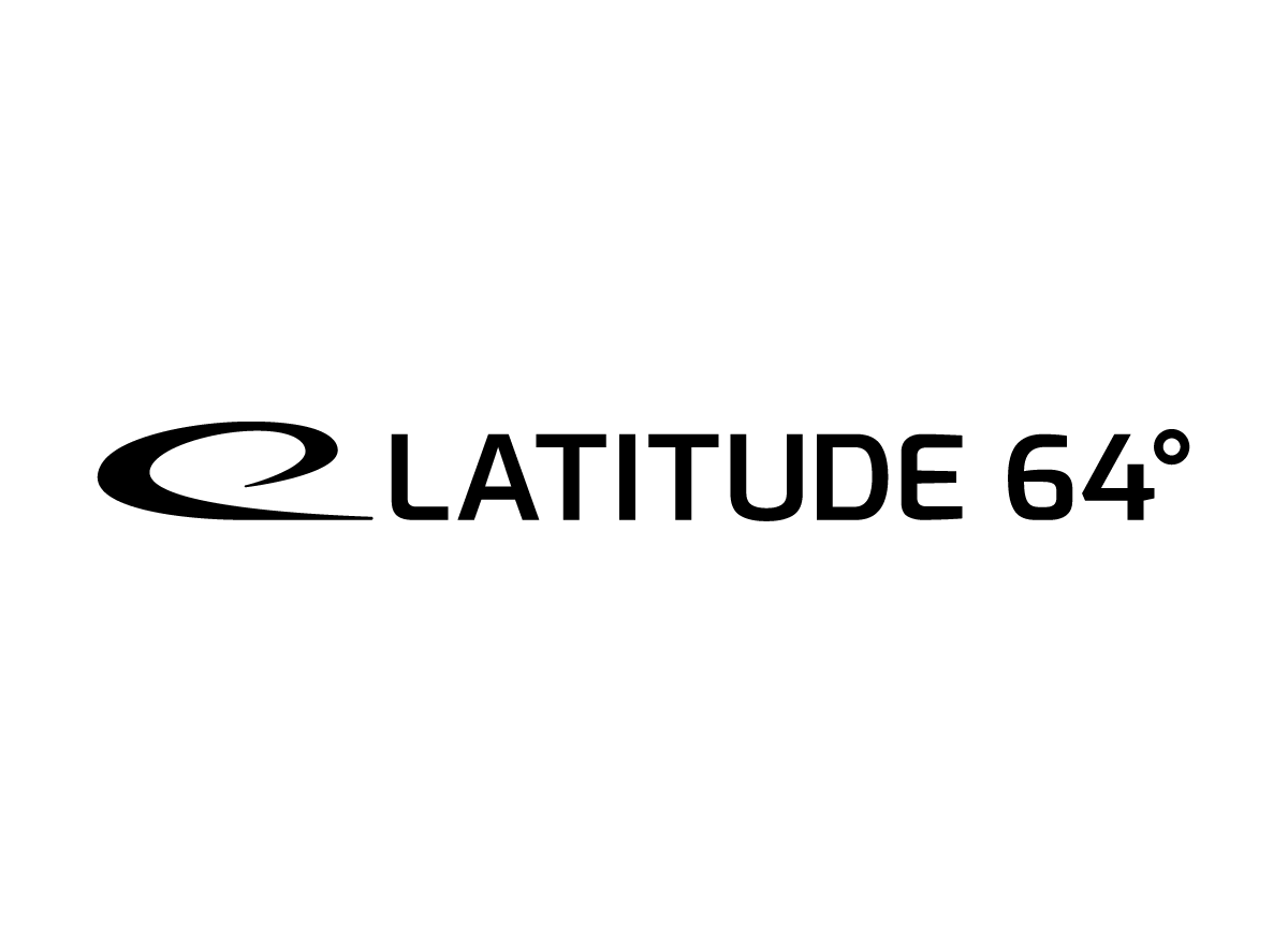 Latitude64 horizontal logo black and white