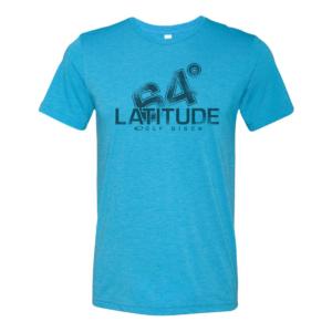 Latitude 64° T-shirt Halftone Aqua