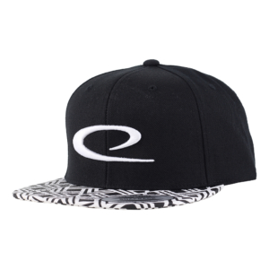 Latitude 64° Cap Snapback Big Swoosh Black/White Pattern