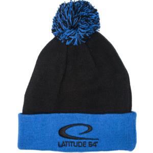 Latitude 64° Beanie Pom Black/Blue