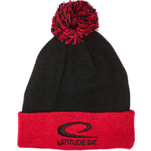 Latitude 64° Beanie Pom Gray/Red