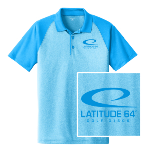 Latitude 64° Polo Swoosh Heather Blue/Pond Blue