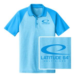 Latitude 64° Polo Swoosh Heather Blue/Pond Blue