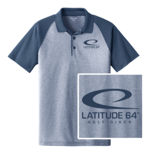 Latitude 64° Polo Swoosh Heather Blue/True Navy
