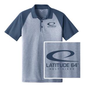 Latitude 64° Polo Swoosh Heather Blue/True Navy