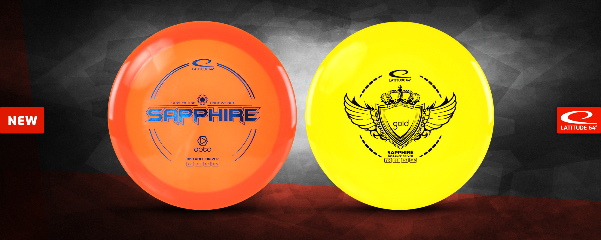 Golf Discs - Sapphire Opto and Gold Line